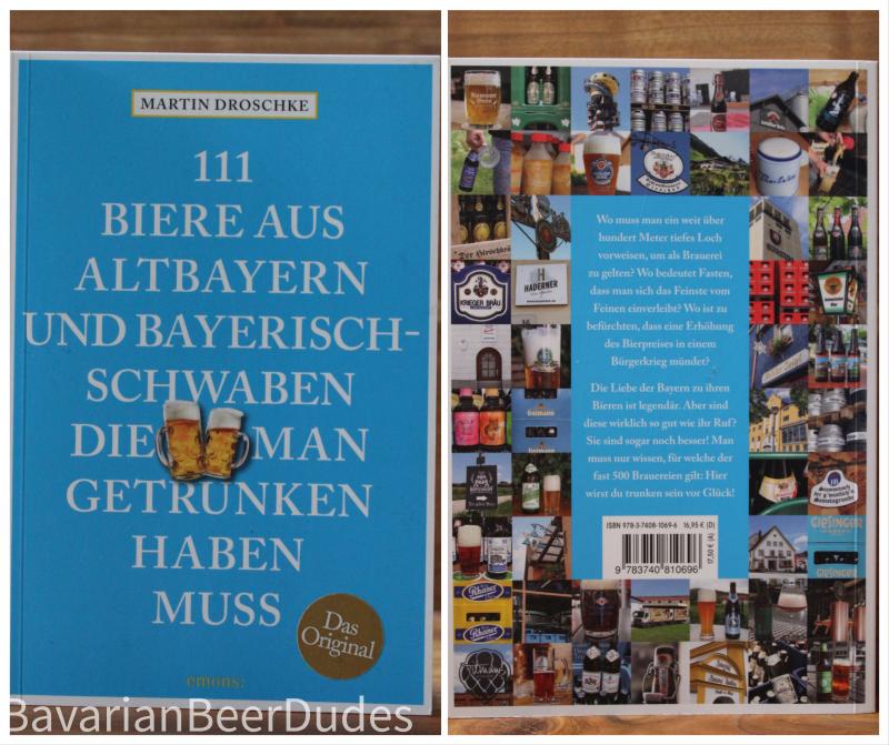Buchempfehlung: 111 Biere aus Altbayern und Bayerisch-Schwaben die man getrunken haben muss